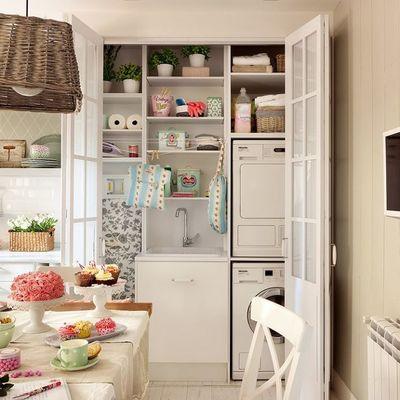 Ideas para integrar una zona de lavado y planchado en tu casa