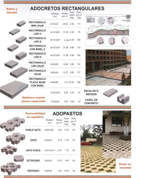 Foto adocretos rectangulares de enfoque constructivo for Precio de reforma por m2