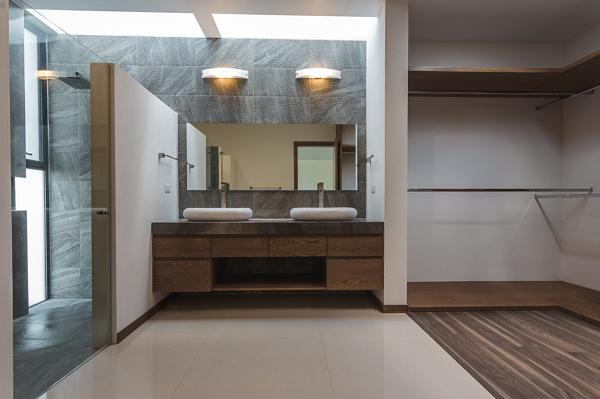 Baño Closet Vestidor:Foto: Baño Vestidor Recámara Principal de 2m Arquitectura #143524