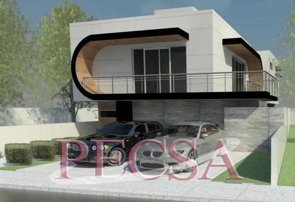 Foto casa estilo minimalista en zibata de pecsa 113274 for Imagenes de casas estilo minimalista