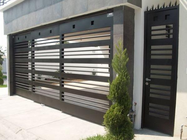 Foto cerco de herreria de decoraciones y servicios de - Puertas para cocheras electricas ...