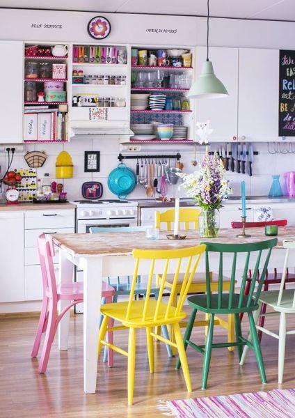 Foto cocina con muebles de colores 248057 habitissimo for Muebles de cocina independientes