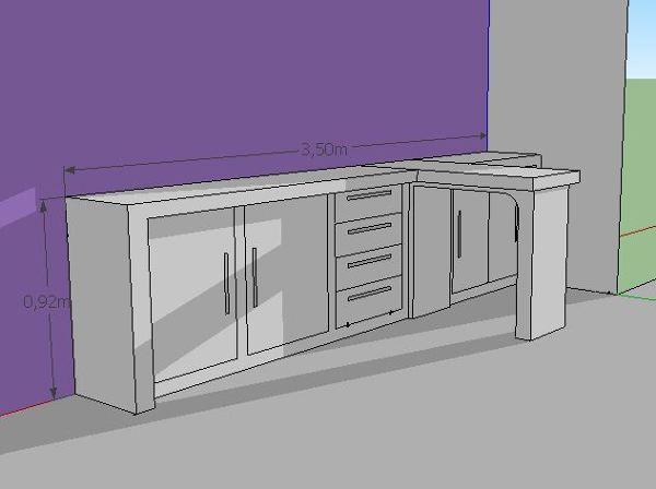 Foto dise o aprobado de mueble de tablaroca en apto de for Muebles de oficina zona san martin