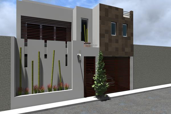 Foto fachada casa habitaci n de adda arquitectura y for Casa habitacion minimalista