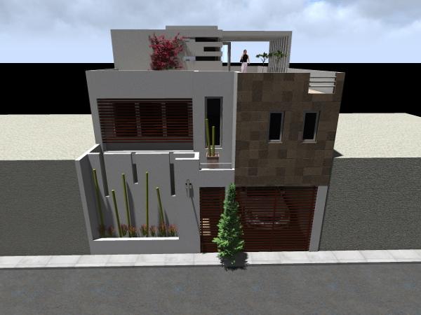 Foto fachada casa habitaci n de adda arquitectura y for Casas minimalistas precios