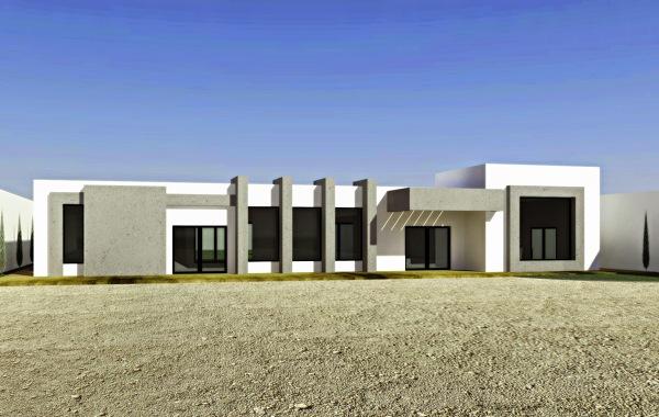 Foto fachada hacienda minimalista de high end decor for Fachadas oficinas minimalistas
