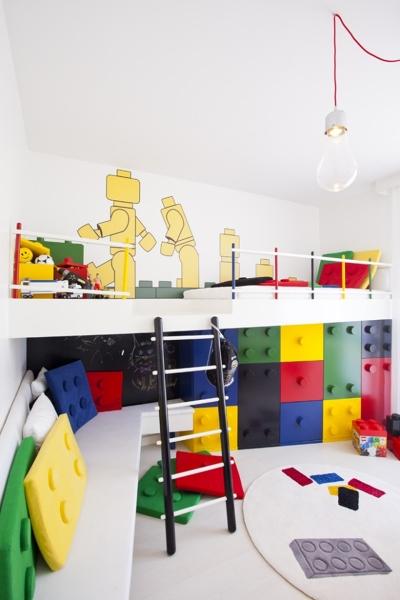 Lego Kinderzimmer Einrichtung Trend Kinderbett Wandgestaltung Ideen Pebble