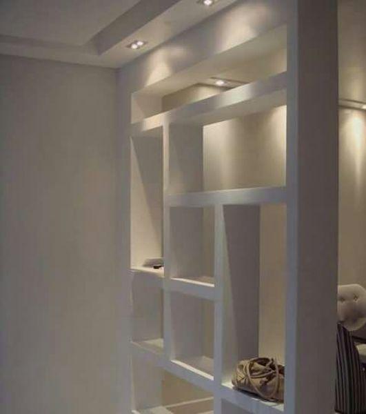 Foto mueble divisorio en tablaroca con iluminaci n - Ikea iluminacion interior ...
