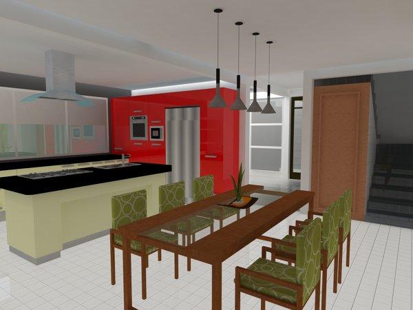 Foto: Perspectiva Cocina y Comedor. de INMOBAMEXICO #390860 ...