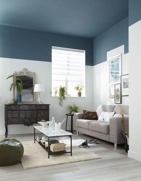 Foto Sala Con Paredes Pintadas En Dos Colores 224316 Habitissimo - Pintar-paredes-de-dos-colores