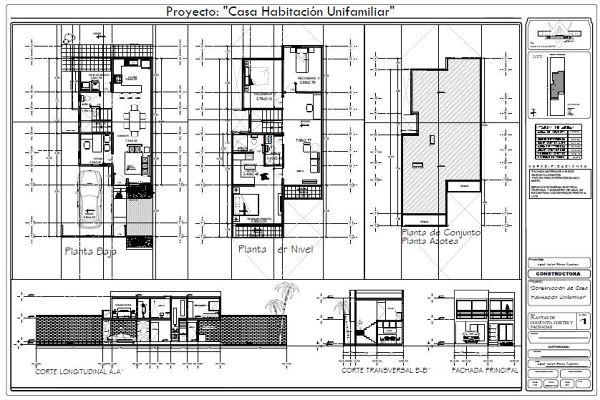 Foto plano arquitectonico casa juarez de duarq 349148 for Planos arquitectonicos de casa habitacion