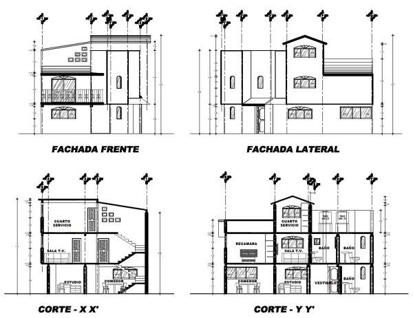 Foto plano de fachadas y cortes de innovarquitec 243646 for Planos de fachadas