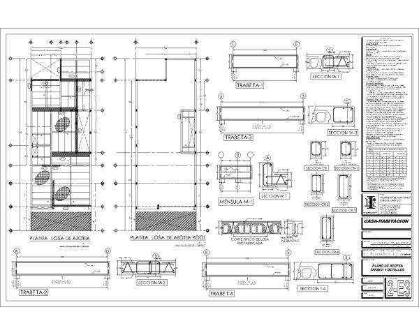 Foto plano estructural 3 de duarq 364371 habitissimo for Planos de casas de una habitacion