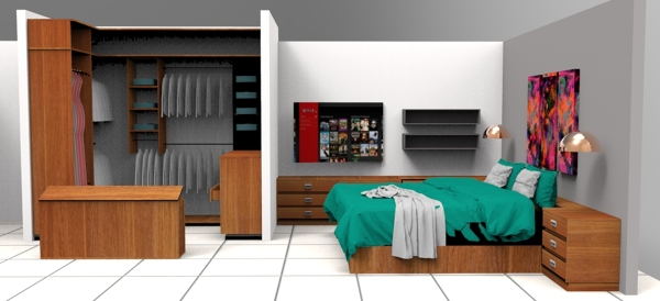 Foto propuestas recamara con closet de ambiart home for Closet para recamaras