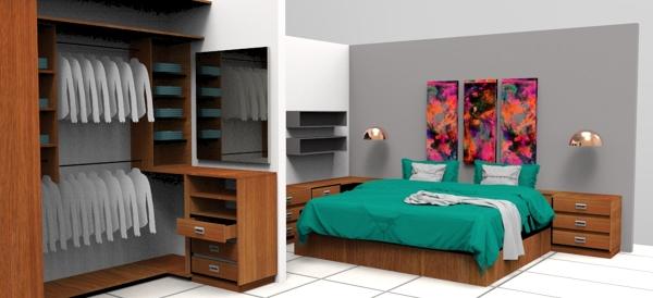 Foto propuestas recamara con closet de ambiart home for Recamaras modernas con closet