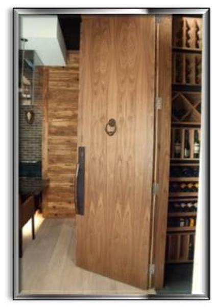 Foto puertas en madera de nogal de arkyza trabajos con - Color nogal en madera ...