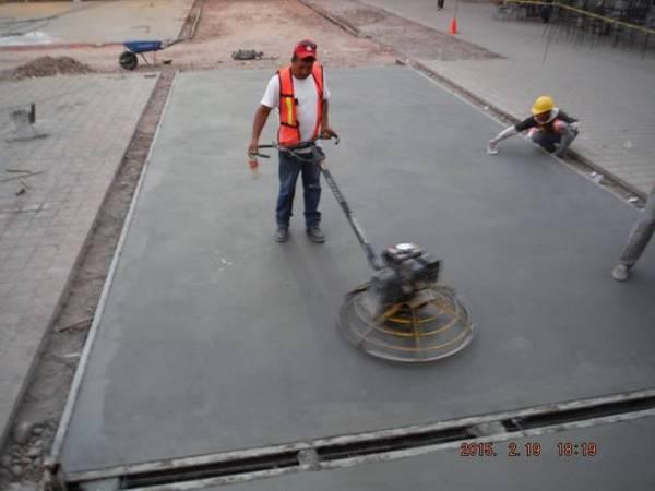 Foto pulido de losas de concreto de lesco ingenieria y - Losas de hormigon para jardines ...