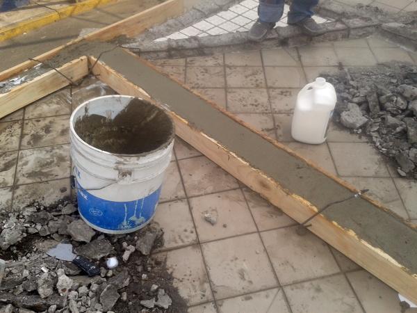 Foto recolado para impermeabilizacion de trabes - Loseta para jardin ...