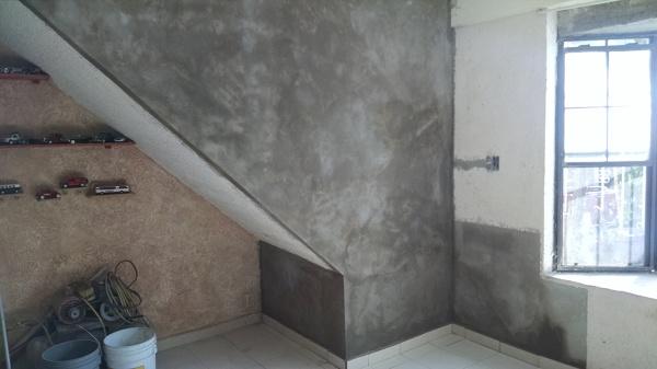 Foto Terminado De Escaleras Aplanado De Paredes De Panel