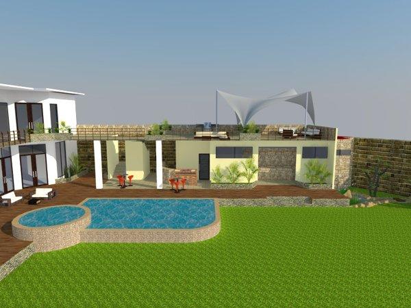 Foto Terraza Y Alberca De Proyectos Y Construcciones
