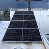 4 Modulos fotovoltaicos en horizontal al sur