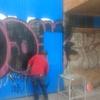 aplicacion pintura de esmalte en porton