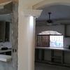 Arco y columnas de yeso y Spot Area Desayunador y Cocina