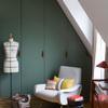 Clóset verde en la recámara