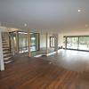 Sala amplia casa pasiva sustentable