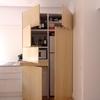 Cocina con electrodomésticos ocultos