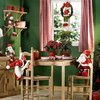 decoración navideña en blanco y verde