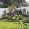 Diseños GREEN Paradise solución verdes:diseño del jardin con rio