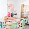 Recámara infantil decorada con colores