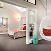 hanging-egg-chair-Bedroom-Contemporary-with-bathroom-bed-bedding-ceiling