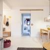 Sala comedor con puerta corrediza