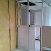 Remodelación de ventanales 3 muros 325x124 de duroc exterior interior de tablero de yeso con aislamiento térmico.