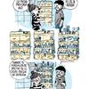 Ilustración vida en pareja baño