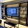 Panel para TV con luz led con mesa de centro