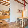 casa con piso de madera de parquet