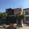 Proceso de construcción de muros y techos