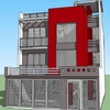 Dibujo de planos de un edificio de aulas