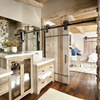 Baño con puerta corrediza