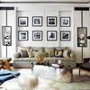 salon con decoracion eclectica