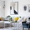 Sala moderna con tejidos