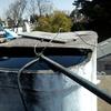 Tinaco de asbesto, dañado