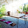 Comedor en terraza de estilo boho