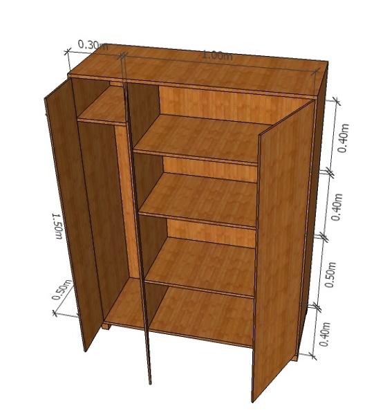 ¿Cuánto me podría costar este mueble de madera?