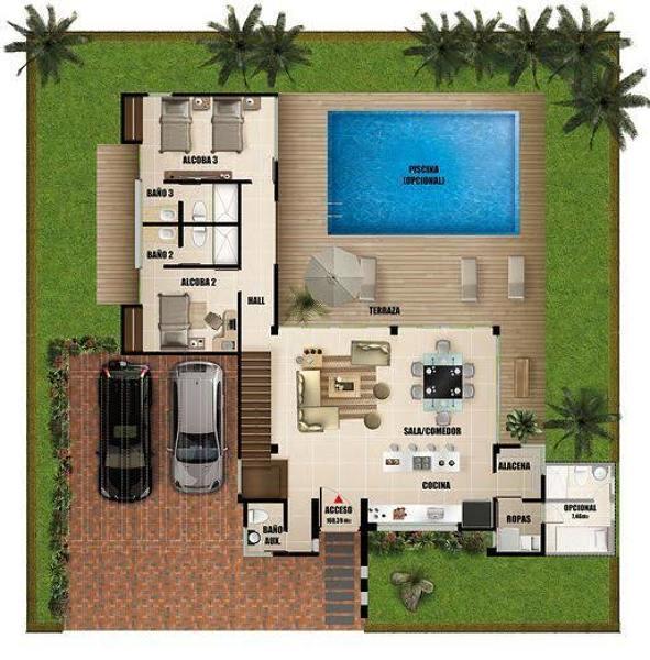 ¿Cuánto se cobra en Tijuana el M2 por una construcción para una casa minimalista de 3 pisos y arriba con alberca?