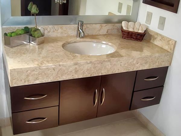 ¿Cuánto cuesta y dónde se puede ver este gabinete para baño?