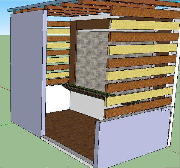 remodelar mi pequeña cocina y decorar una pared del patio de servicio